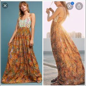 Anthropologie Raga Women's Parkland Maxi Dress